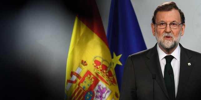 Le premier ministre espagnol Mariano Rajoy à Bruxelles le 20 octobre.