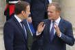 Emmanuel Macron et Donald Tusk à l'Elysée, le 11 octobre.