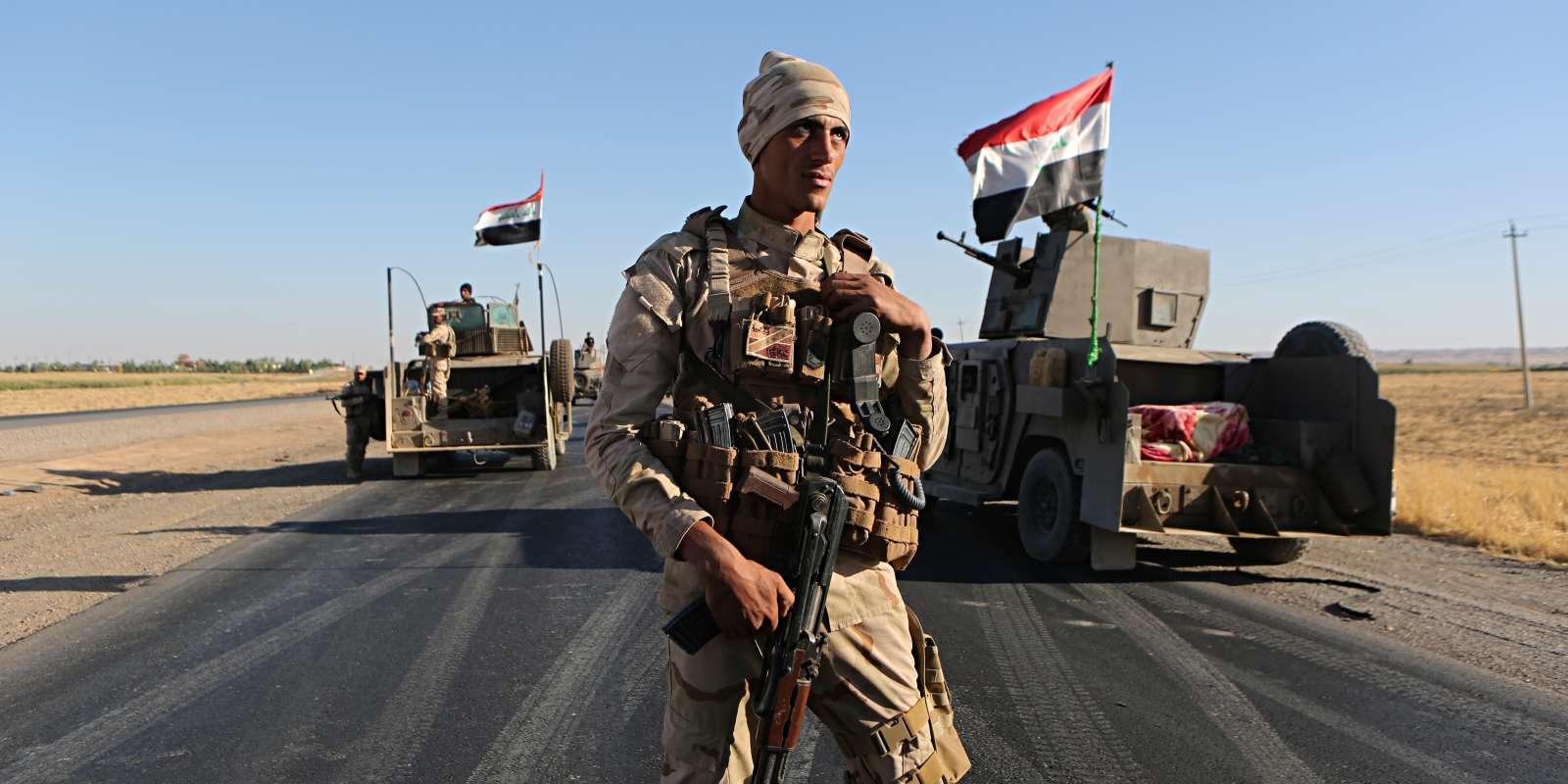Un soldat des forces irakiennes à Altun Kupri, au Kurdistan irakien, le 19 octobre.