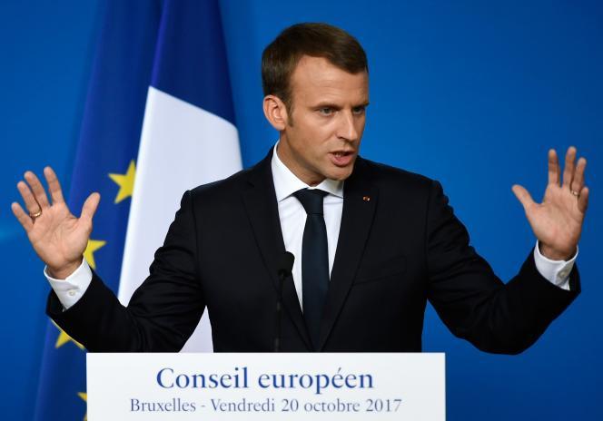 Emmanuel Macron à Bruxelles le 20 octobre