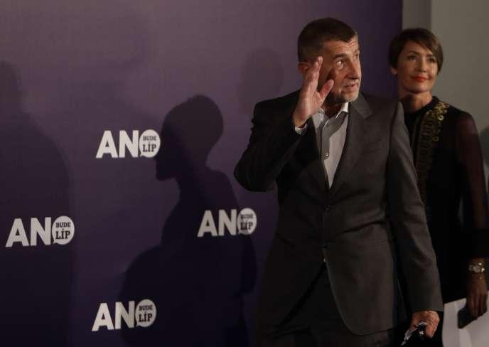 Andrej Babis, leader de l'ANO, à Prague, le 21 octobre 2017.