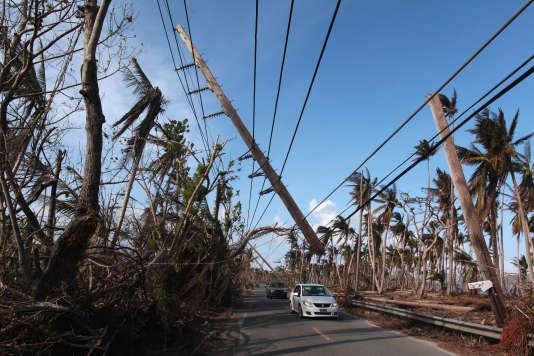 La municipalité de Naguabo, à Porto Rico, a été fortement abîmée par le passage de l'ouragan Maria.