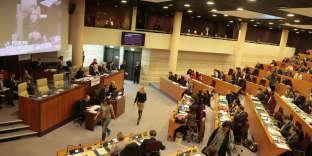Au conseil régional d'Ile-de-France, le 21 janvier 2016.