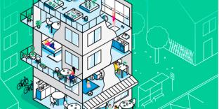 La page d'accueil de la plate-forme numérique de la start-up Habx, destinée aux futurs acquéreurs d'un logement neuf.