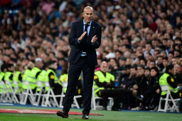 L'entraîneur du Real Madrid, Zinedine Zidane, le 22 octobre, à Santiago-Bernabeu.