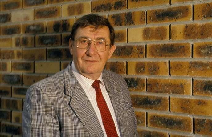 Louis Viannet, ancien secrétaire général de la CGT, le 21 septembre 1991 à Paris.