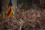 """« Faites venir le plus tôt possible les enfants, ne bloquez pas, comme le font beaucoup d'autres, le regroupement familial : les enfants à l'école apprendront le catalan et parleront catalan à leurs parents en rentrant le soir à la maison» (Photo: manifestation de catalans venus protester contre la detention pour sedition des """"Deux Jordis"""" - Cuixart et Sanchez - par la justice espagnole)."""