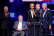 De gauche à droite : Jimmy Carter, George H.W. Bush, Barack Obama, George W. Bush et Bill Clinton, lors de la levée de fonds pour les sinistrés des ouragans Harvey, Irma et Maria, à College Station, au Texas, le 21 octobre.