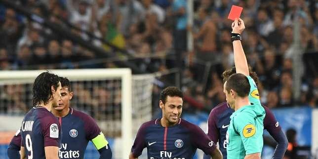 Le Brésilien Neymar a été expulsé, dimanche 22 octobre, lors du clasico (2-2) entre l'OM et le PSG.