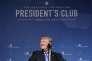 Le président étasunien Donald Trump sourit pendant sondiscours, à l'invitation de l'Heritage Foundation, à Washington, le 17 octobre.