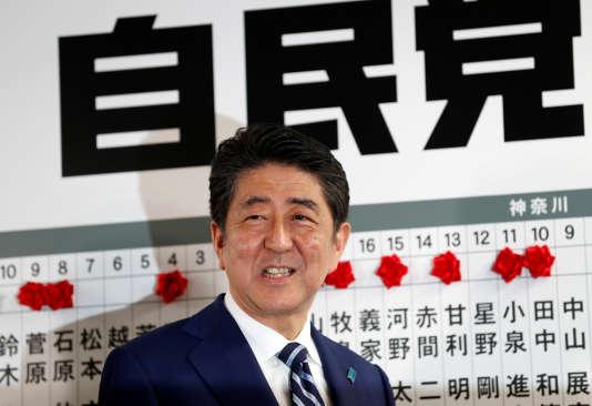 Le premier ministre japonais Shinzo Abe, à Tokyo, le 22 octobre.