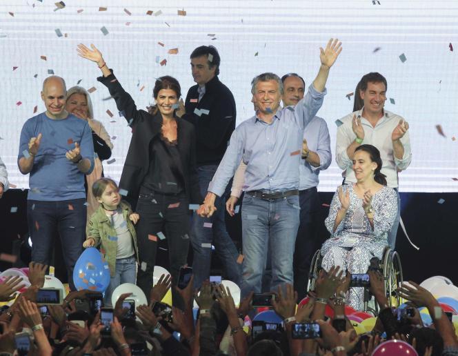 Le président argentin Mauricio Macri et son épouse Juliana Awada, à Buenos Aires, le 22octobre.