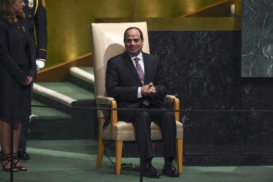 Le président égyptien Abdelfattah Al-Sissi, le 19 septembre, au siège des Nations unies, à New York.