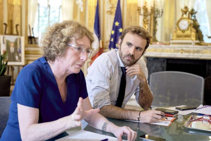 Antoine Foucher, lors d'un entretien donné par Muriel Pénicaud, au ministère du travail le 25 août.