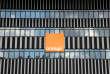 Une publicité pour Orange au Vélodrome de Marseille, en septembre 2016.
