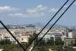 Athènes (avec le Parthénon dans le fond), vue depuis la Fondation Niarchos.
