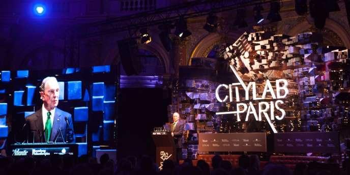 Michael Bloomberg, ce lundi 23 octobre à Paris, à l'ouverture de CityLab.