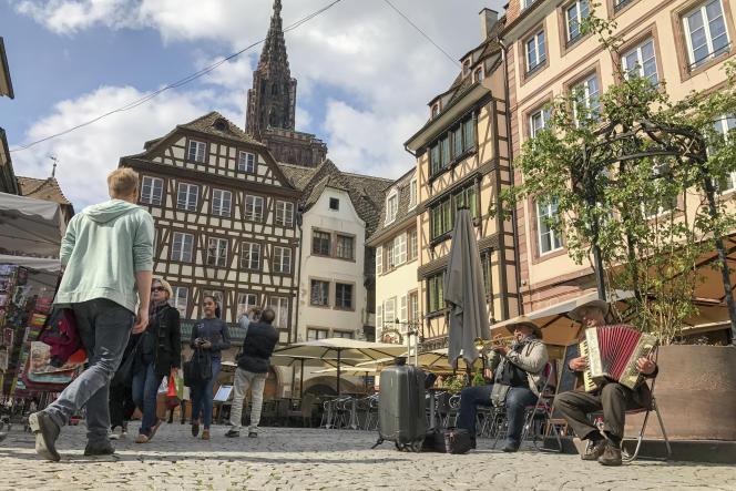 Strasbourg a lancé une plate-forme qui agrège les données issues du stationnement. (Albert Stumm via AP)