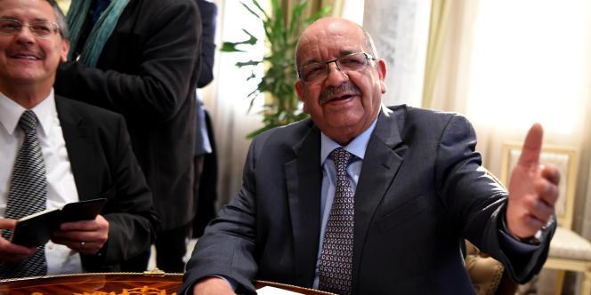 Abdelkader Messahel, ministre algérien des affaires étrangères, le 19février 2017, à Tunis.