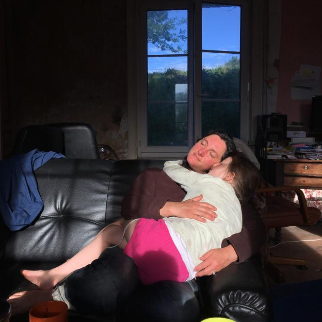 Lucile et sa fille.