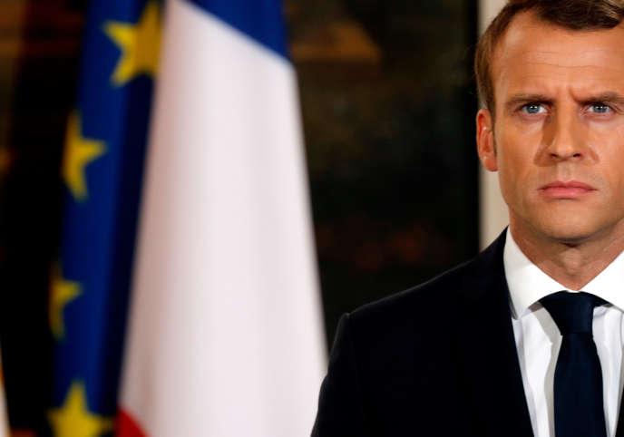 Le président Emmanuel Macron, au palais de l'Elysée, le 24 octobre.