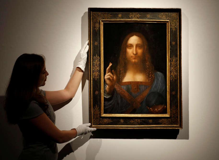 «Salvator Mundi», une représentation du Christ parLéonard de Vinci datantd'environ 1500, a été adjugé le 15 novembre pour 450,3 millions de dollars chez Christie's à New York.