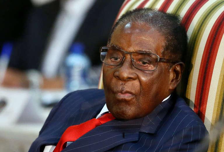 Le président zimbabwéen Robert Mugabe à Pretoria (Afrique du Sud), le 3 octobre 2017.