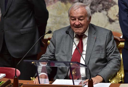 Bernard Brochand lors de la séance inaugurale de la XVe législature de l'Assemblée nationale, le 27 juin 2017.