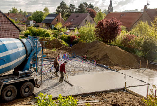 Un chantier à Godewaersvelde (Nord), le 28avril.