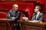 Eric Woerth, président LR de la commision des finances, et Gérald Darmanin, ministre des comptes publics, le 24 octobre, à l'Assemblée.