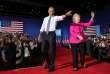 Le 4 juillet 2016, Hillary Clinton et Barack Obama lors d'un meeting électoral à Charlotte, en Caroline du Nord.