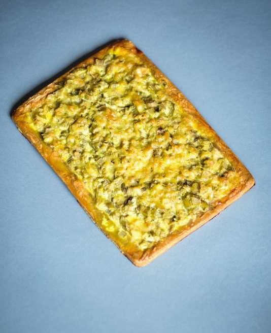 La tarte de Jean-Philippe de Tonnac, à base de petit épeautre et de céleri.