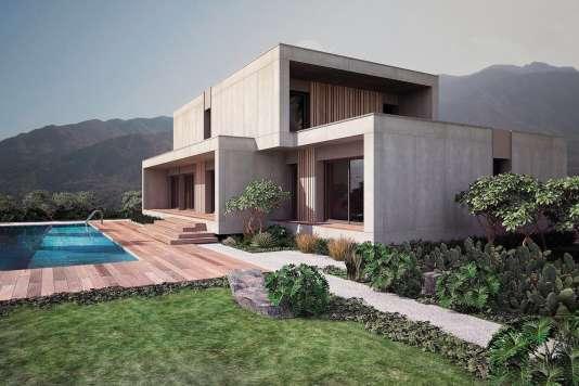 LeconstructeurPopUp House proposedes habitations modernes (ici le modèle Kochi)aux allures demaisons d'architecte.