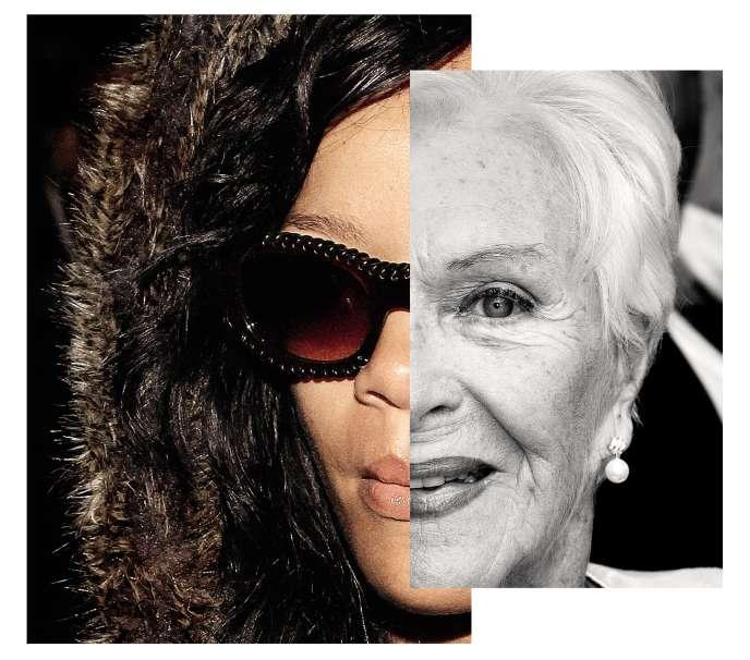 Rihanna et Line Renaud.