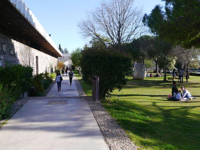 Le campus de l'université de Montpellier-III en mars 2017.