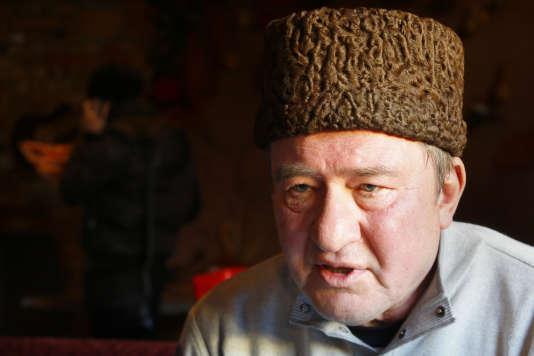 Ilmi Oumerov, l'un des deux opposants tatars libéré mercredi 25 octobre, lors d'une interview à l'agence Associated Press à Simferopol, en Crimée, en janvier 2016.