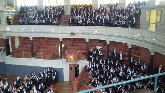 Cérémonie de matriculation à Oxford.