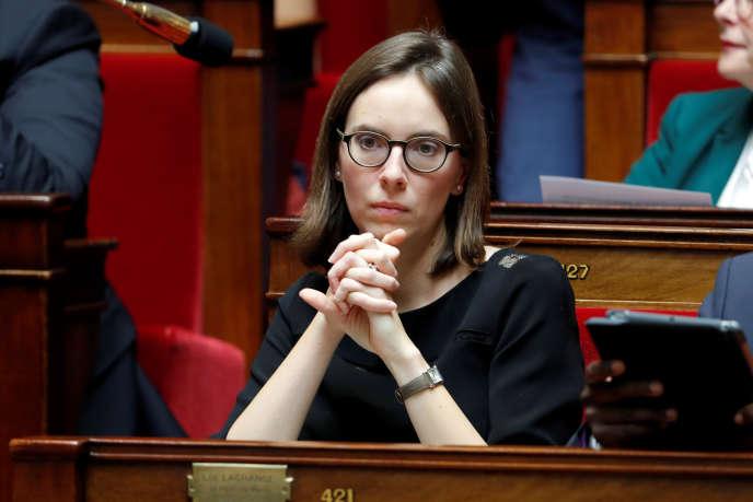 La députée Amélie de Montchalin (LRM) à l'Assemblée nationale, le 24 octobre.