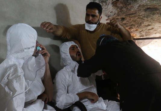 Une attaque au gaz sarin a fait plus de 80 morts à Khan Cheikoun, dans la province d'Idlib, le 4 avril.