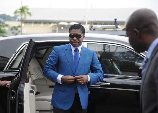 Teodorin Obiang, en juin 2013 en Guinée équatoriale.