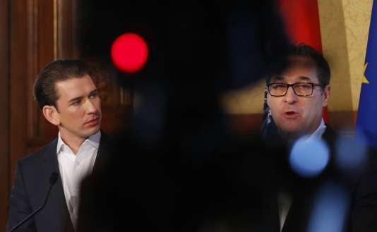 Sebastian Kurz et Heinz-Christian Strache, le 25 octobre à Vienne.