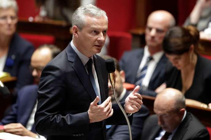 Bruno Le Maire, ministre de l'économie, à l'Assemblée nationale, le 25 octobre.