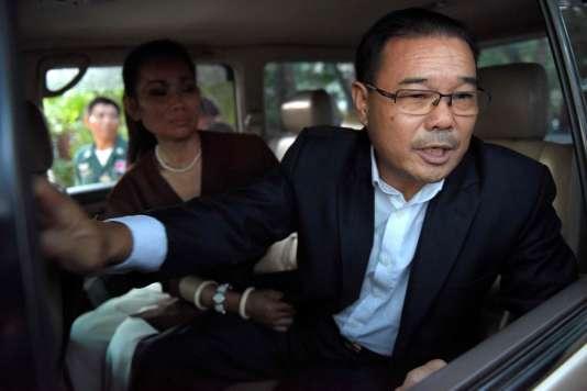Hong Sok Hour, à sa sortie de prison, le 25 octobre à Phnom Penh.
