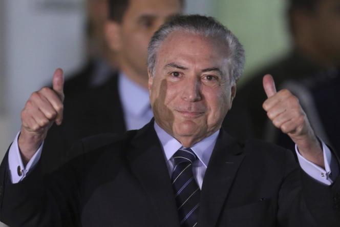 Le président brésilien Michel Temer, à Brasilia, le 25 octobre.
