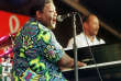 FILE PHOTO - New Orleans rhythm and blues legend Fats Domino performs at the 30th Annual New Orleans Jazz and Heritage Festival April 25, 1999. REUTERS/Lee Celano/File Photo