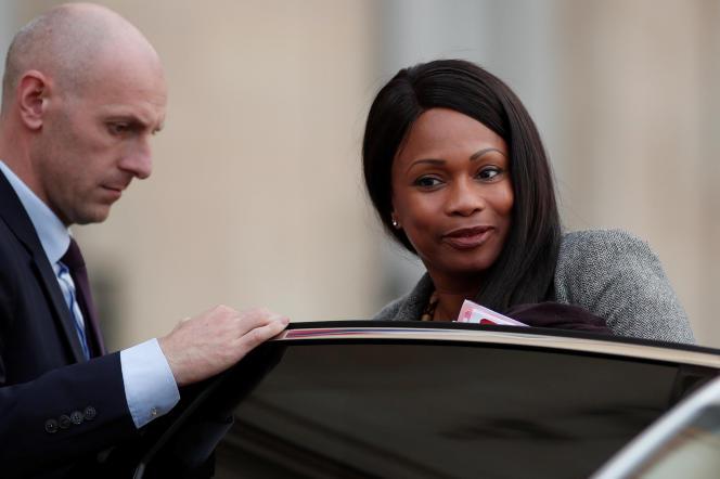 La ministre des sports, Laura Flessel, au palais de l'Elysée à Paris, le 25 octobre.