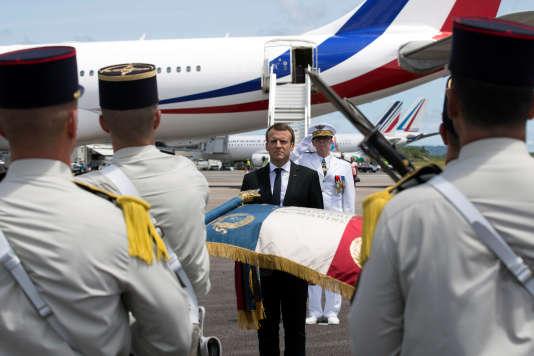 Emmanuel Macron, le 26 octobre en Guyane.