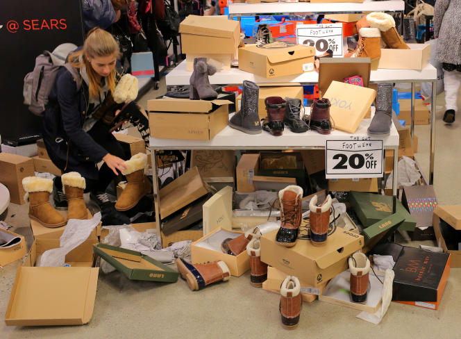 Liquidation d'un magasin Sears à Mississauga (Ontario), au Canada, le 19 octobre 2017.
