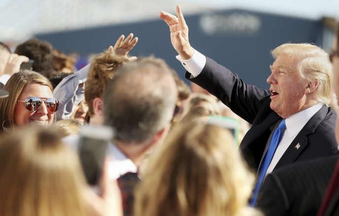 Donald Trump arrive à Dallas, le 25octobre 2017.