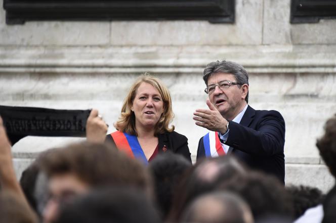 Danielle Simonnet et Jean-Luc Mélenchon, le 12 juillet, à Paris.